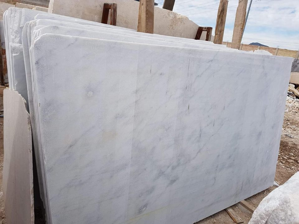 White Marble Slabs Blanco Nebula Slabs from Spain