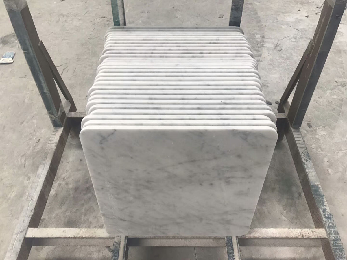 Italian Bianco Carrara White Marble Square Countertop