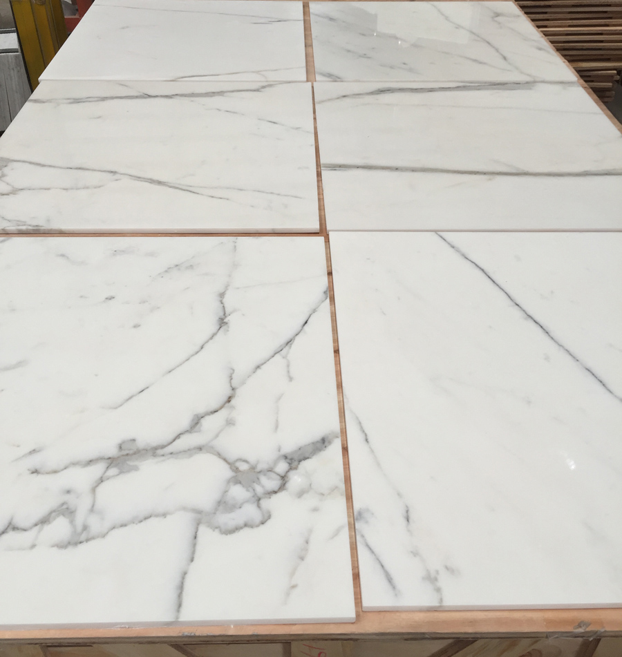 White Marble Statuario Tiles for Flooring and Walling