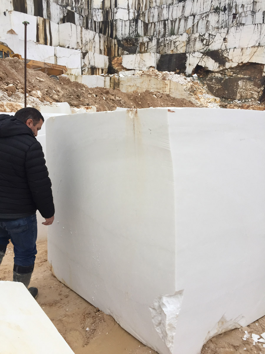 White Marble Stone Blocks Natural Thassos White Marble Blocks