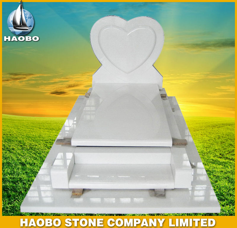 White Marble Tombstone French Style HBMFR009