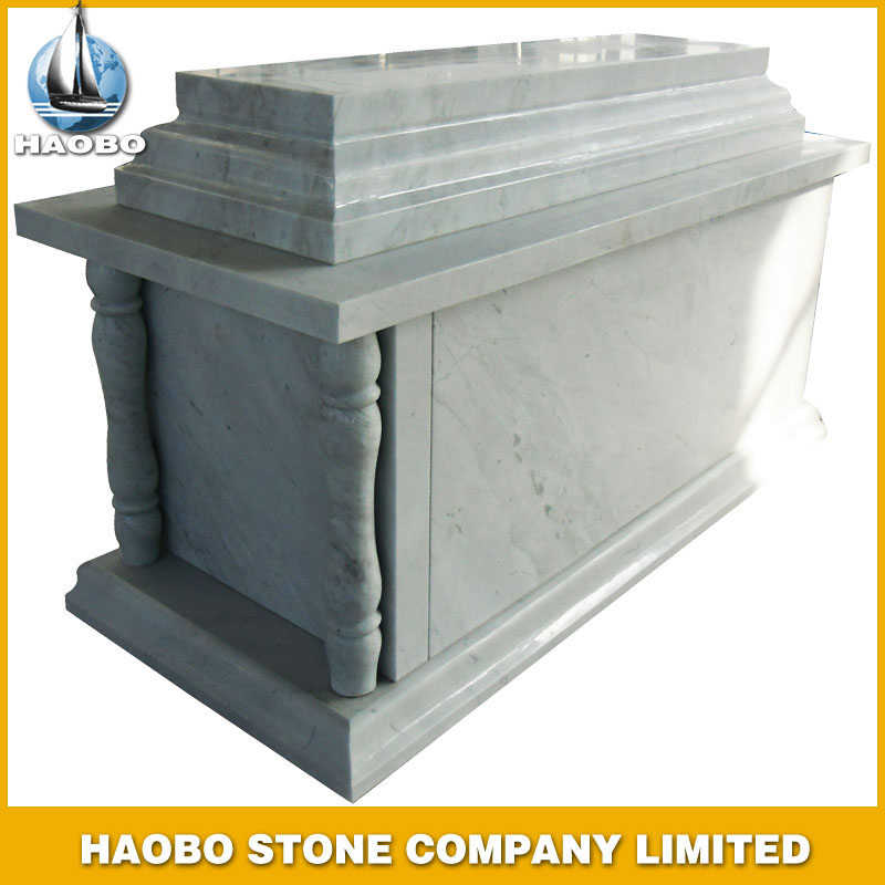 White Marble Tombstone Mausoleum Style HBMS005