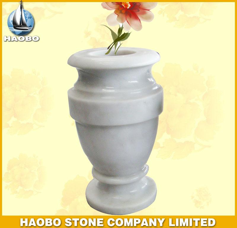 White Marble Vase HBV007