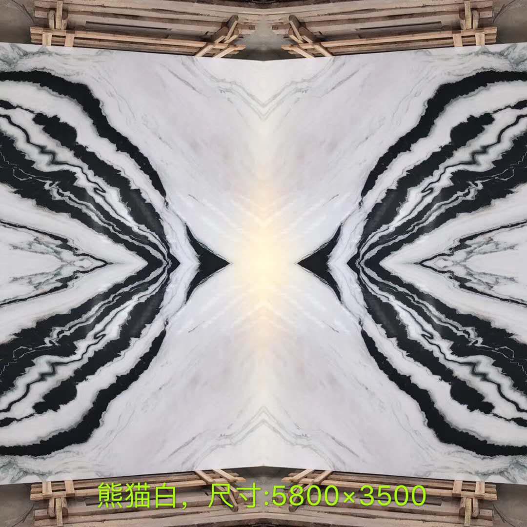 White Marble with Black Veins Marble Slabs Panda White
