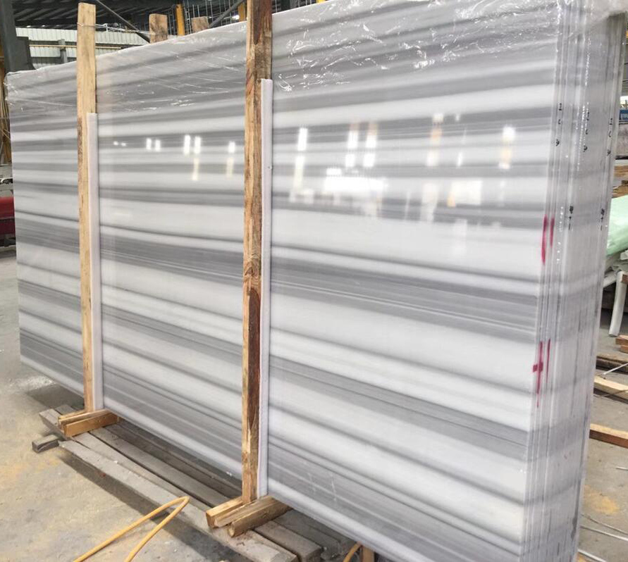White Marmaray Polished Marble Slabs Turkish Marble Slabs