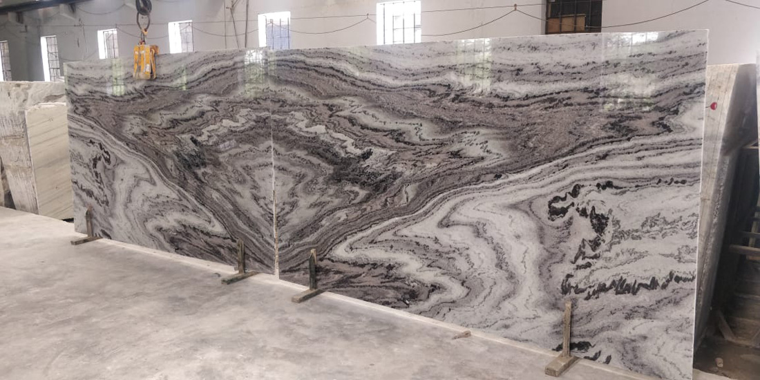 White Mercuri Marble Bookmatch Marble Slabs