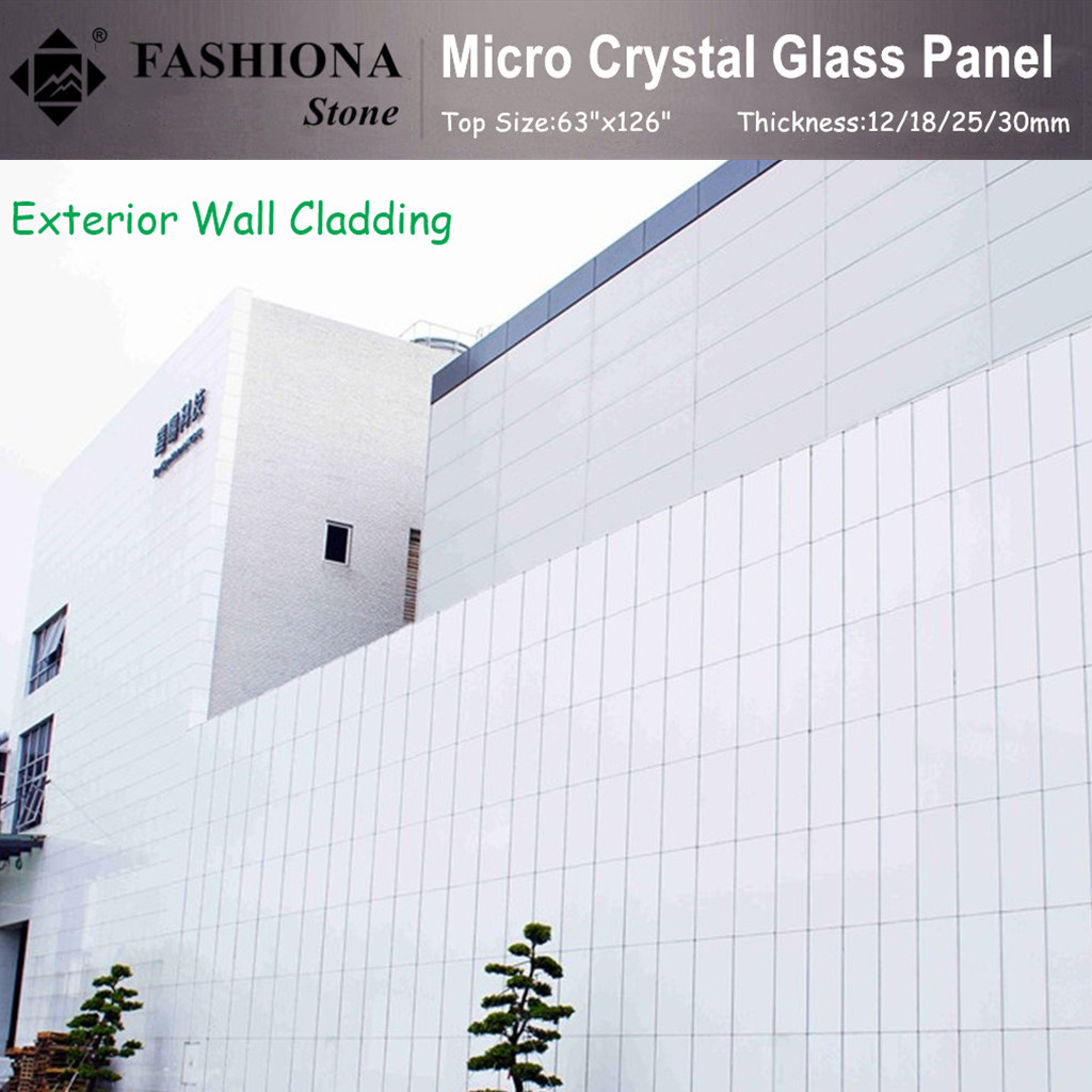 White Micro Crystal Glass Stone for Walling