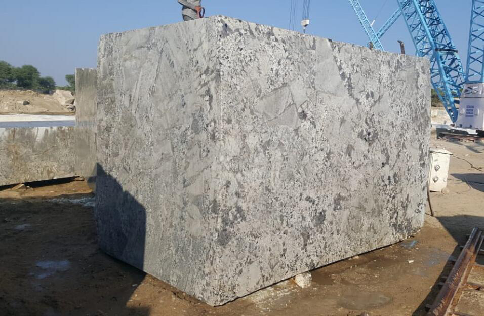 White Natural Granite Block Indian Alpine White Blocks