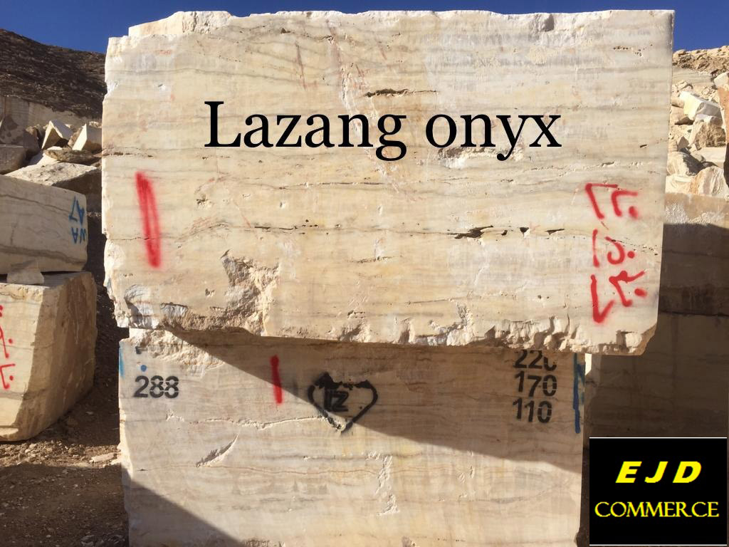 White Natural Onyx Blocks from Iran