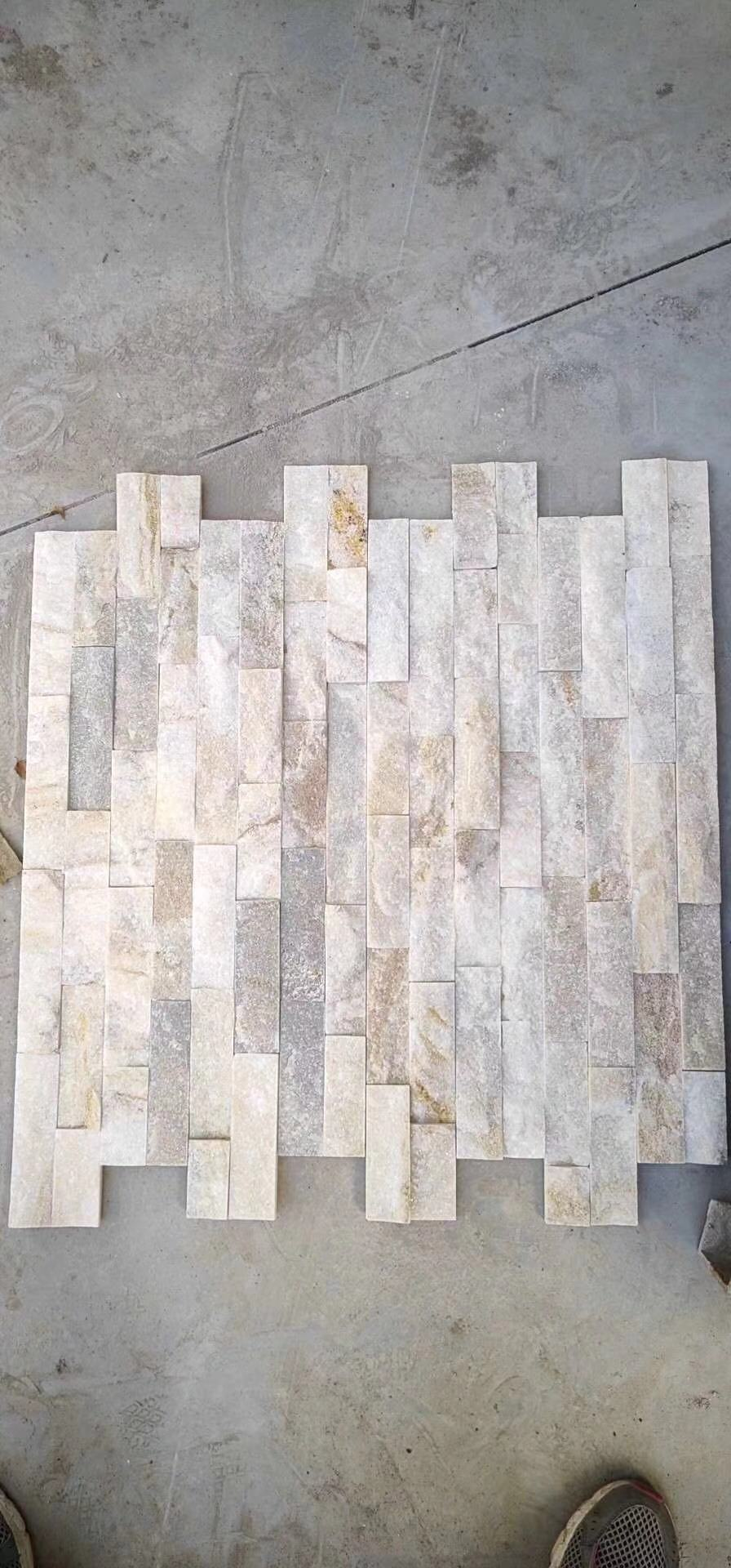 White Natural Stone Wall Panel