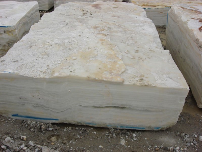 Onyx Blocks White Natural Stone