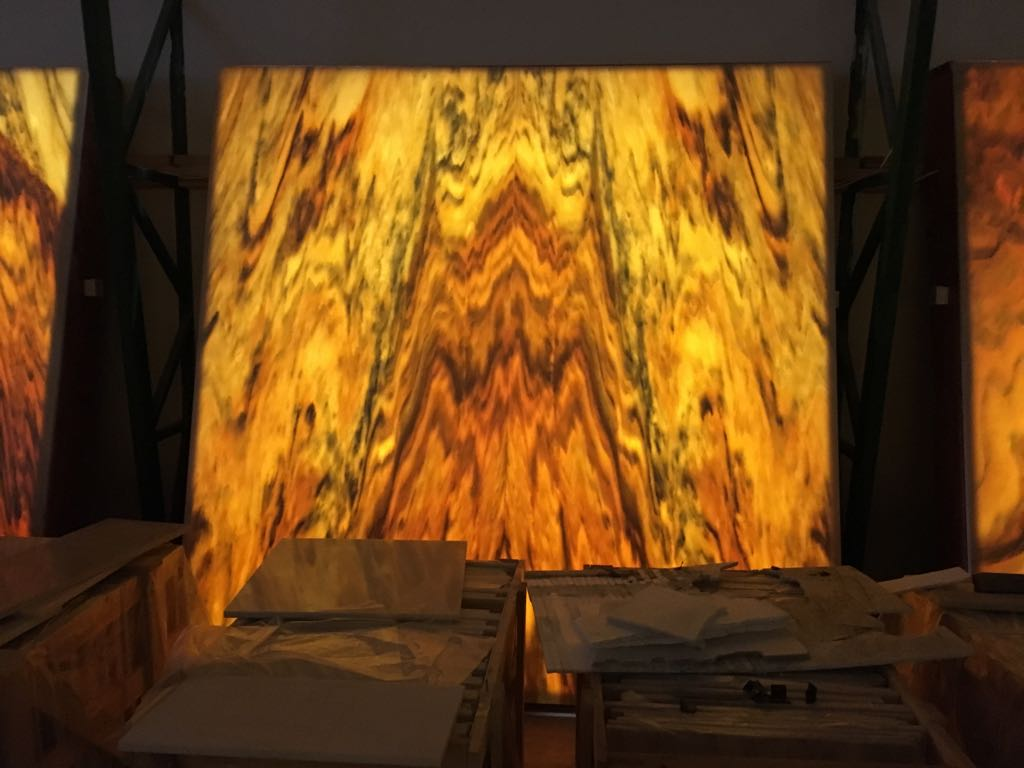 White Orchid Slabs backlight