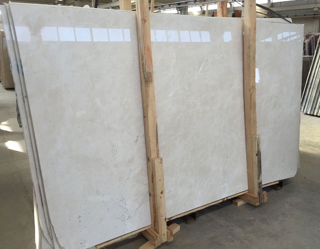 White Pearl Marble Slabs Turkish Polished Beige Marble Stone Slabs