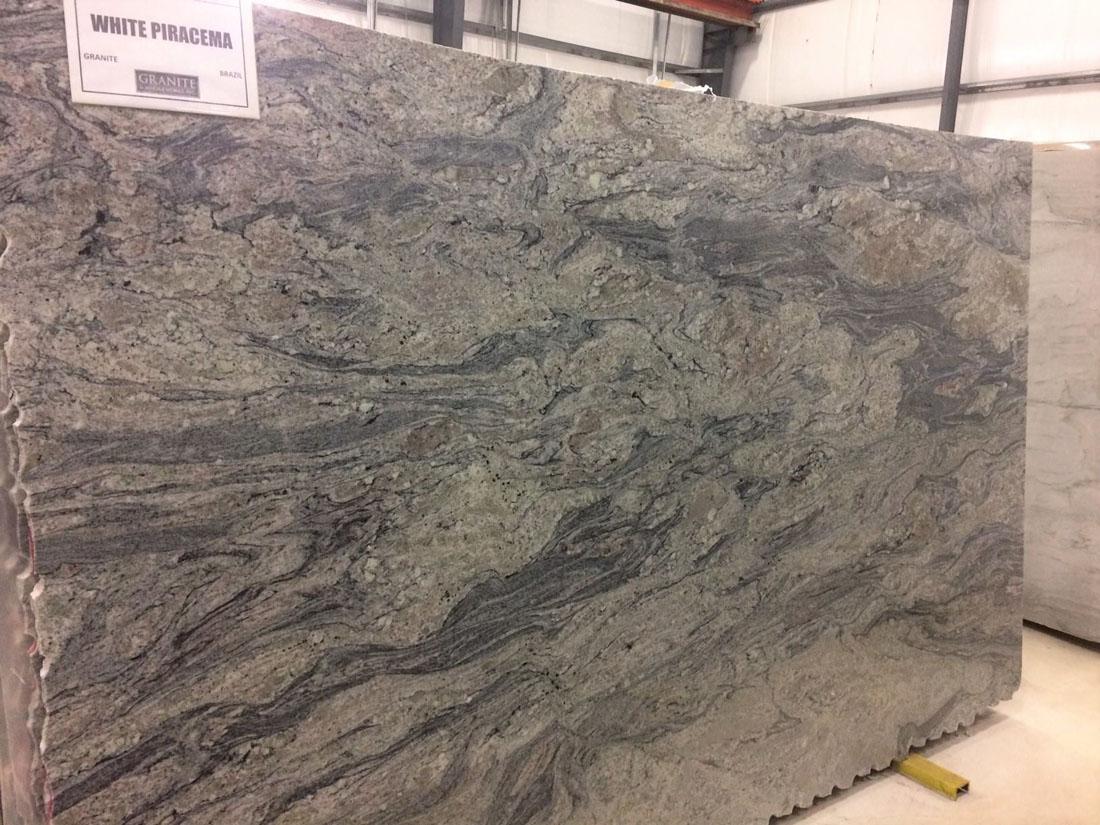 White Piracema Granite Slab Brazilian Granite Slabs