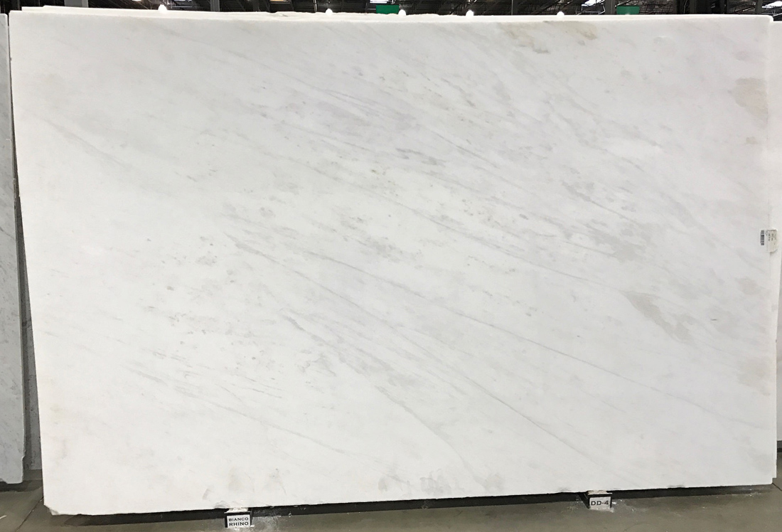 White Polished Marble Slabs Bianco Rhino Marble Stone Slabs