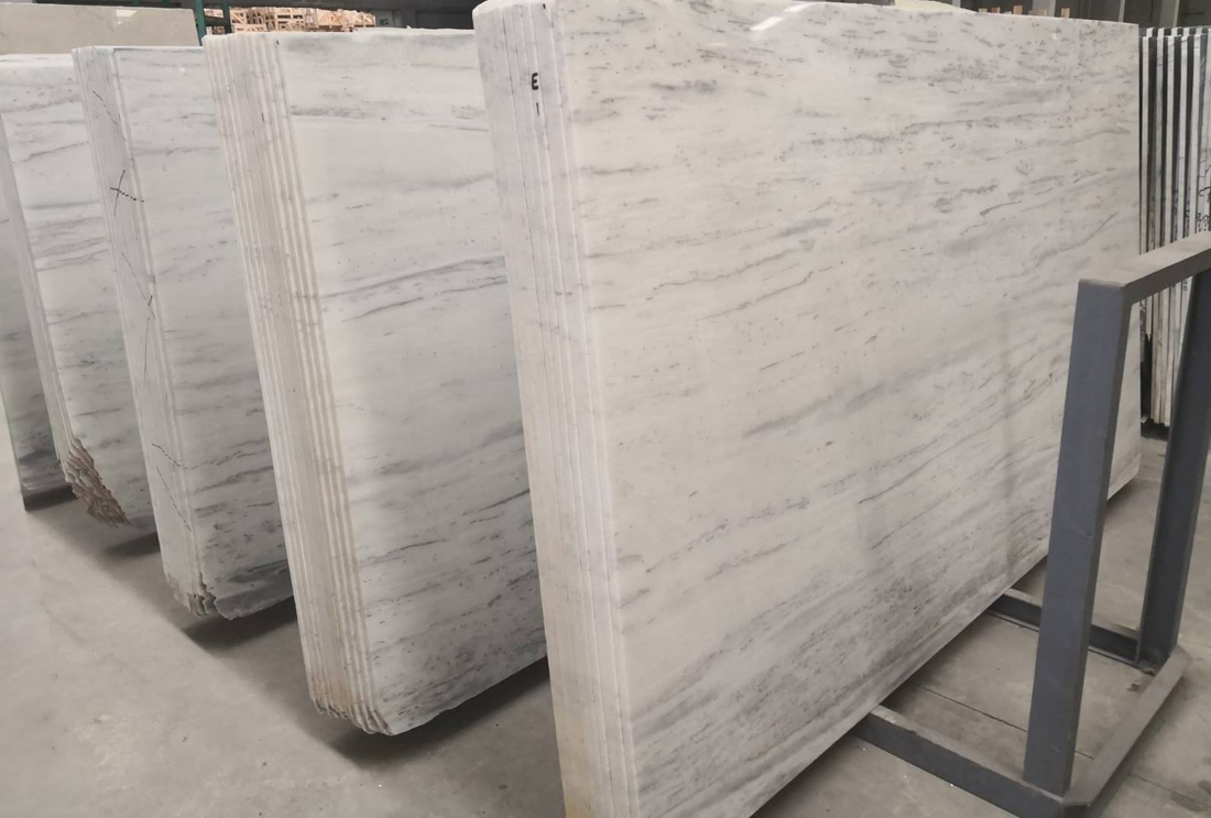 White Polished Marble Slabs Calacata Marble Slabs