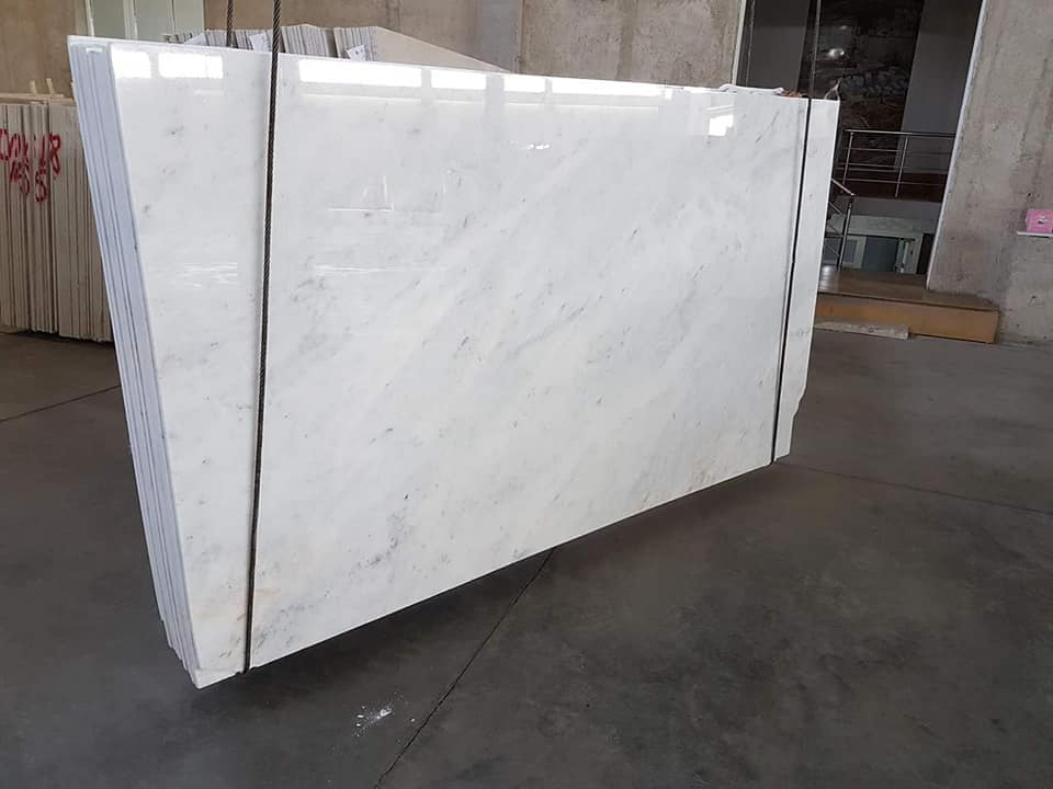 White Polished Marble Slabs Mugla Beyaz Slabs