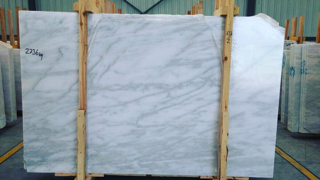White Polished Marble Slabs from Turkey