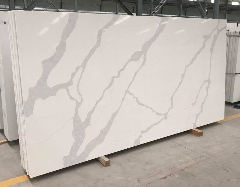 White Polished Quartz Artificial Stone Slabs