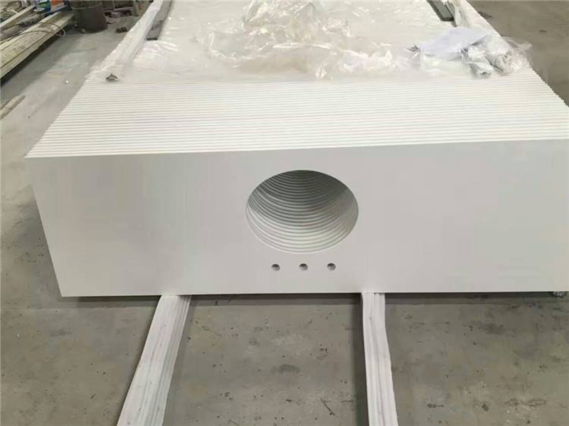 White Quartz Stone Bathroom Vanity Tops