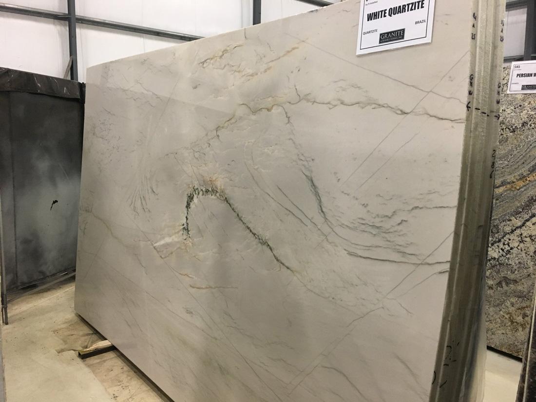 White Quartzite Full Slab