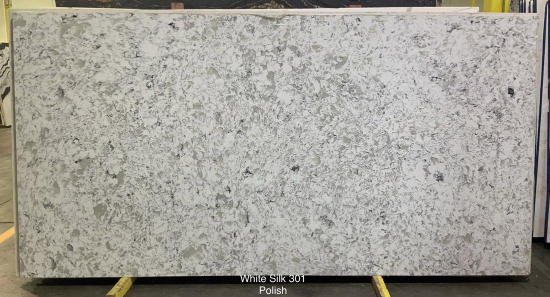 White Silk Quartz Stone Slabs Polished White Stone Quartz Slabs