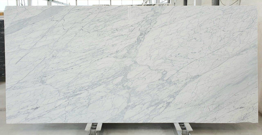 White Statuarietto Marble Slabs Polished Italian White Marble Slabs
