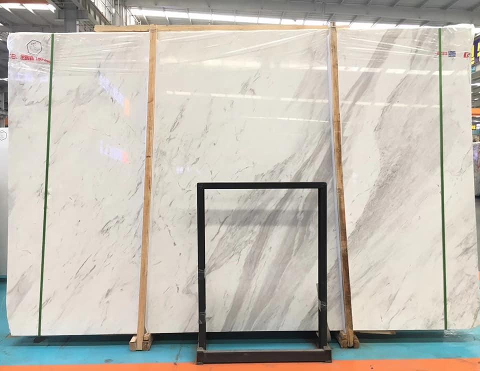 White Stone Slabs Volakas White Marble Slabs