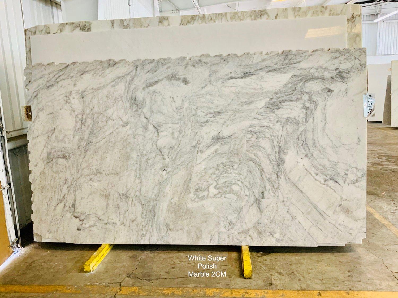 White Super Marble Slabs Italian Polished Marble Slabs