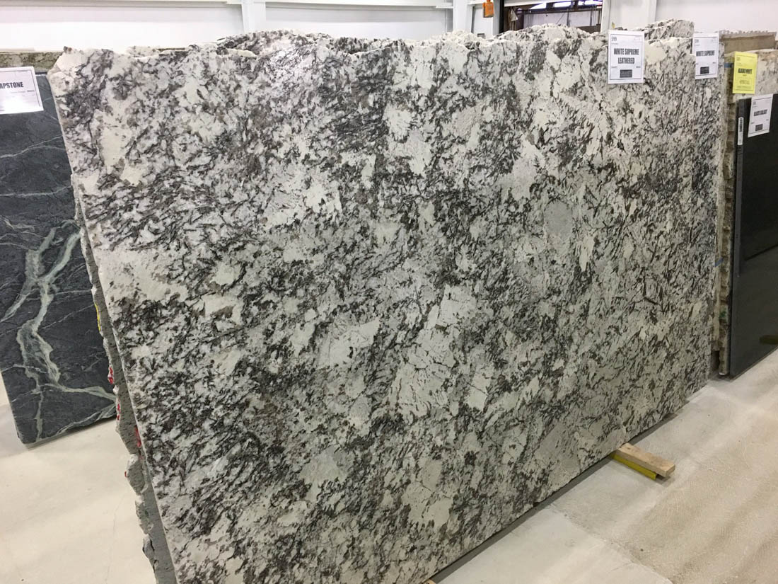 White Supreme Granite Slabs Leathered White Brazilian Granite Slabs