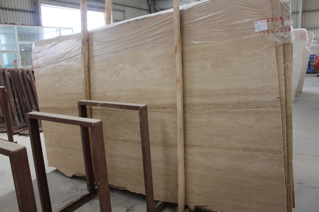 White Travertine Slabs from Chinese Supplier