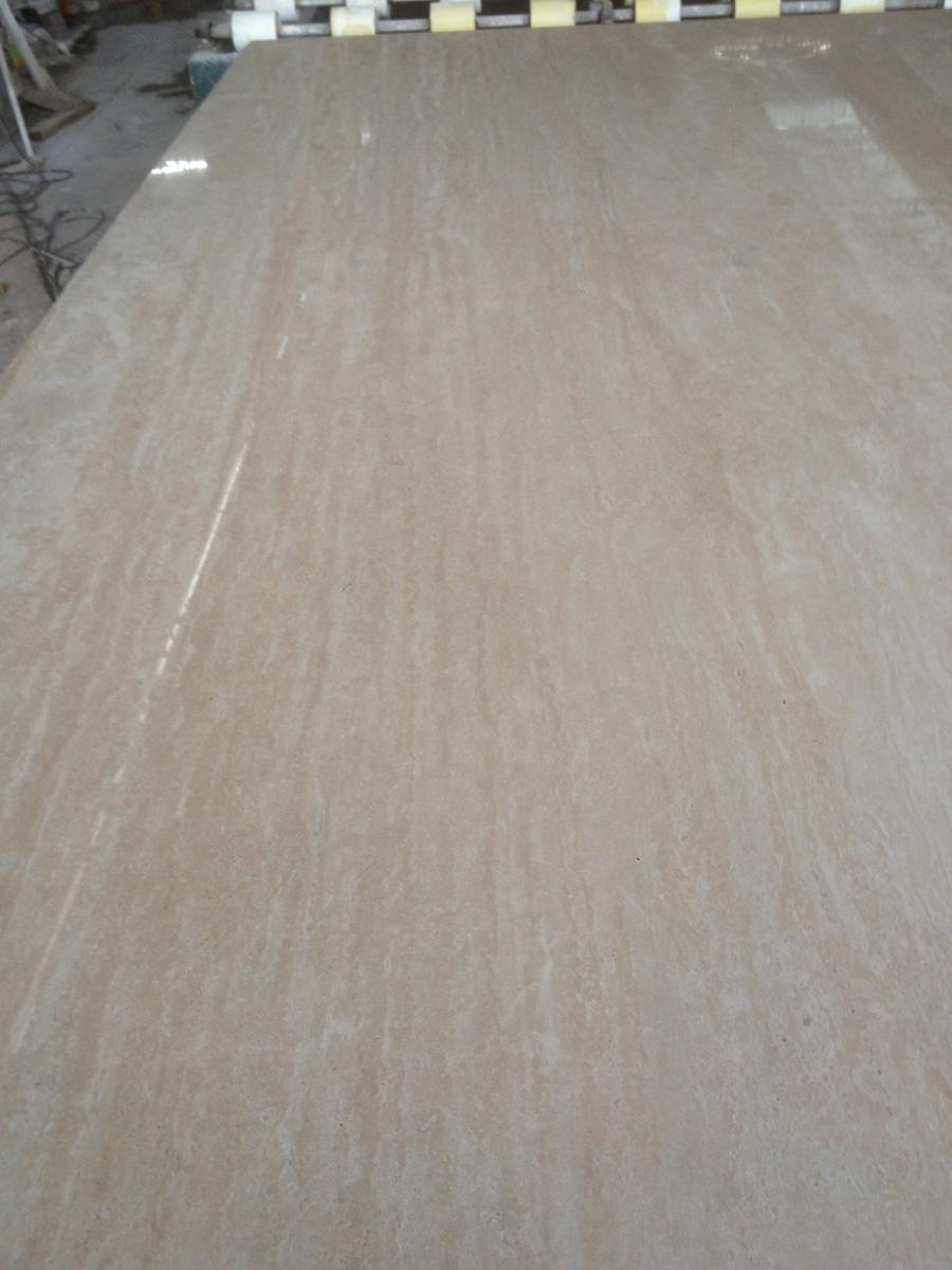 White Travertine Stone Slabs Polished White Slabs