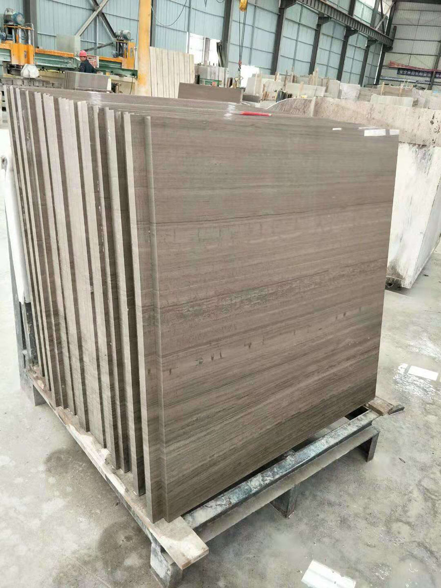 White Wood Grain Marble Polished Chinese Marble Slabs