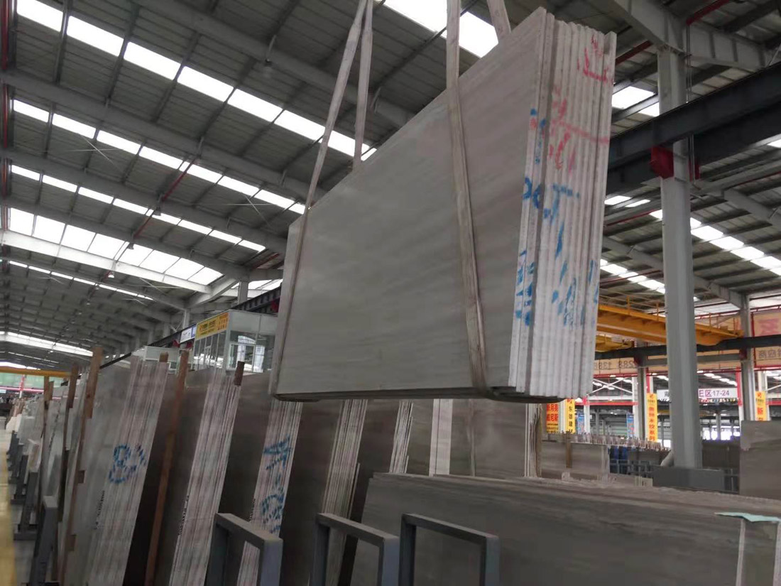 White Wood Grain Marble Slabs from Chinese Supplier