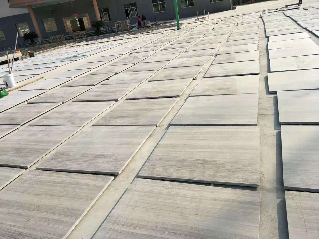 White Wood Grain Marble Stone Tiles