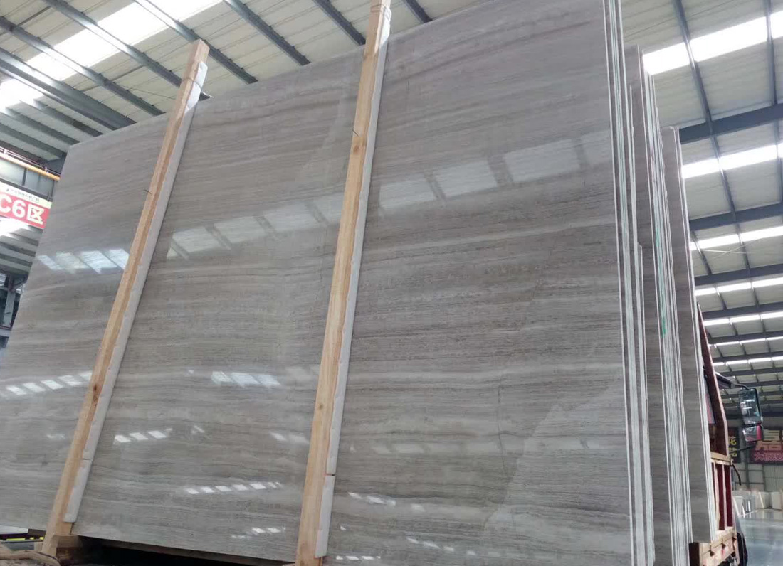 White Wood Marble Polished Wooden Marble Slabs
