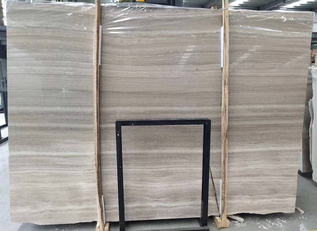 White Wood Marble Slabs Chinese Wooden Marble Slabs