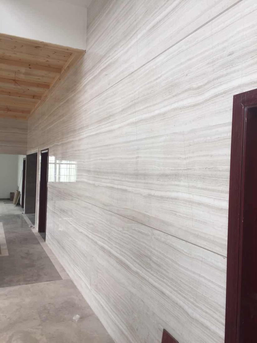 White Wood Marble Wall Tiles