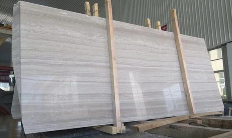 White Wooden Marble Slabs Polished White Marble Slabs