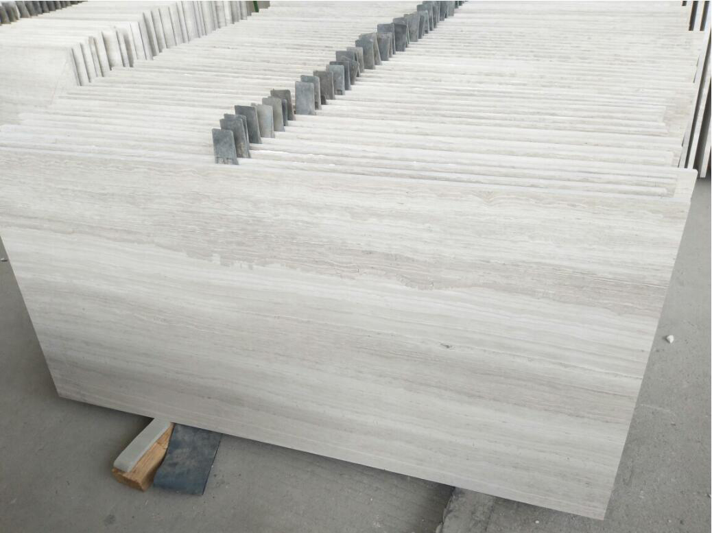 White Wooden Vain Marble Polished Tiles