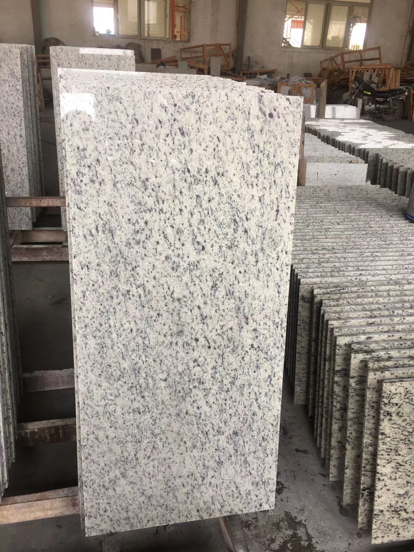 White World Trade Grey White Granite Customised Tiles