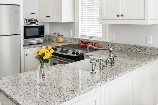 White World Trade Grey White Granite Kitchen Countertops