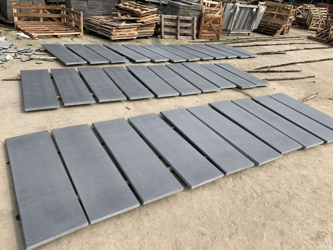 Wholesale Honed China Black Andesite Stone Tiles