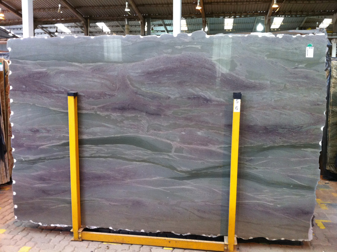 Wild Sea Green Purble Quartzite Slabs