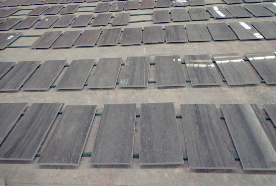 Wooden Blue Marble Tiles Chinese Marble Flooring Tiles