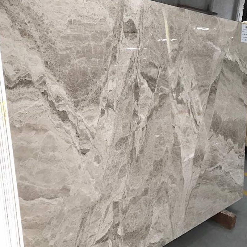 Wooden Grey Marble Slabs Polished Grey Marble Slabs