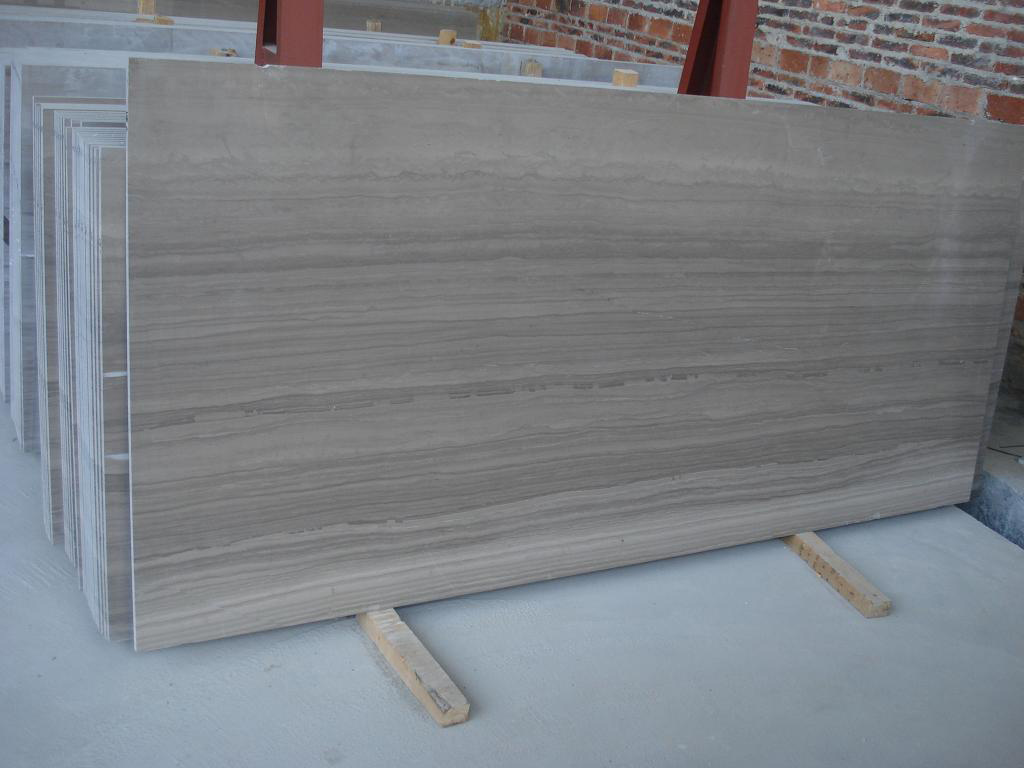 Wooden Grey Marble Slabs from China