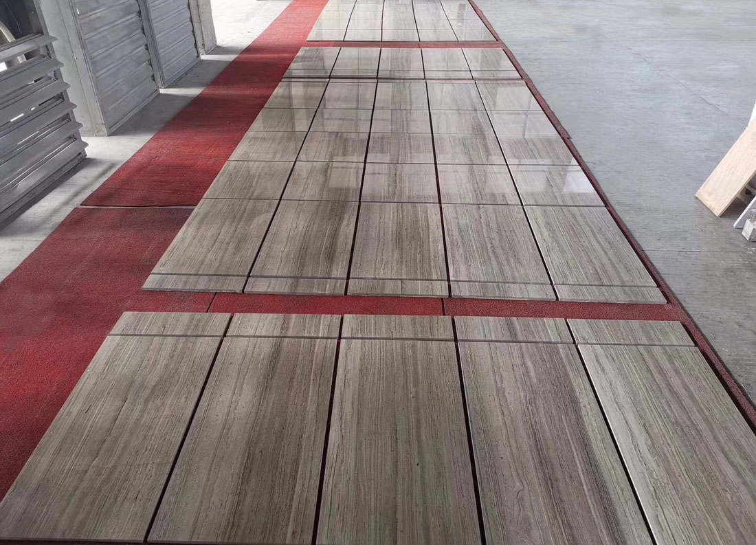 Wooden Grey Marble Tiles Polished Marble Stone Flooring Tiles