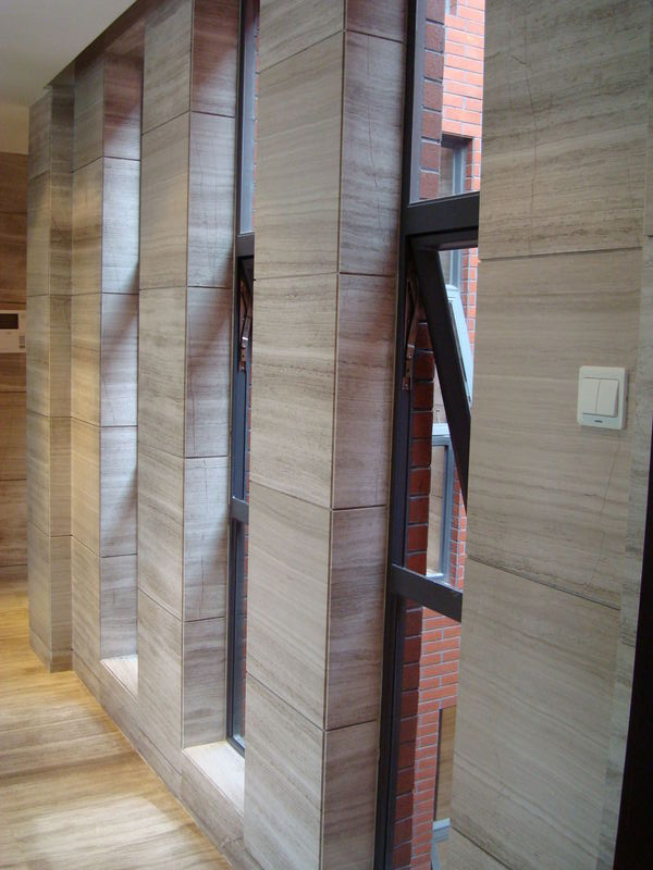 Wooden Grey Marble Tiles for Walling and Flooring