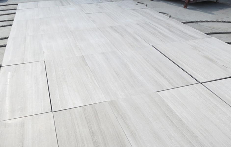 Wooden White Marble Tiles Chinese White Marble Tiles for Flooring